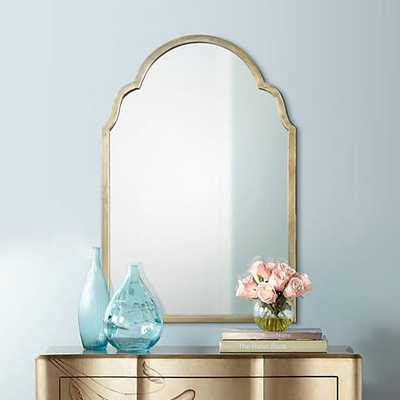 "Brayden Petit Silver 20 1/4"" x 30 1/4"" Arch Wall Mirror - Lamps Plus"