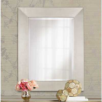 """Brondby Silver Finish 36"""" High Rectangular Wall Mirror - Lamps Plus"""
