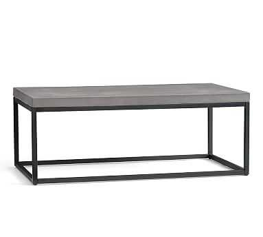 Sloan Concrete & Metal Coffee Table - Pottery Barn