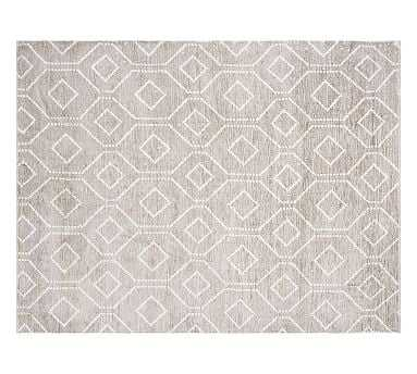 Darcy Rug, 9x12', Gray - Pottery Barn