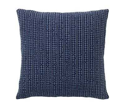 "Honeycomb Pillow Cover, 18"", Sailor Blue - Pottery Barn"