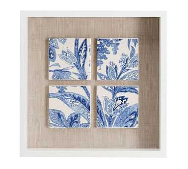 Open-Front Shadow Box Wall Art, White Tiles - Pottery Barn