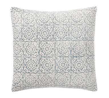"Medallion Print Pillow Cover, 18"", Blue - Pottery Barn"
