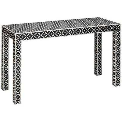 Jamie Young Evelyn Gray Mother of Pearl Console Table white - Lamps Plus