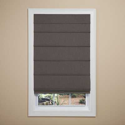 Frost Gray Cordless Room Darkening Fabric Roman Shade - 31 in. W x 64 in. L - Home Depot