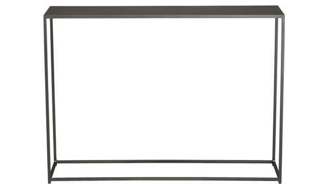 mini mill black console table - CB2