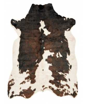 "BROWN DASH FAUX COWHIDE RUG - 6'2"" x 8' - Lulu and Georgia"