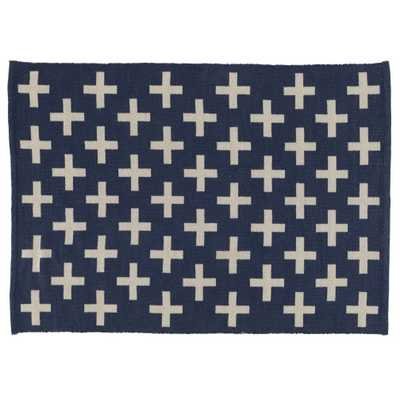 8 x 10' Indoor + Outdoor Rug (Blue) - Land of Nod