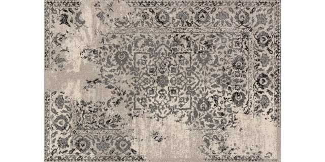 "EB-01 IVORY / CHARCOAL 9'-2"" X 12'-7"" - Loma Threads"