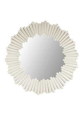Charles Round Mirror in White design by Selamat - Burke Decor