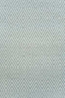 Diamond Light Blue/Ivory Indoor/Outdoor Rug -  4x6 - Dash and Albert