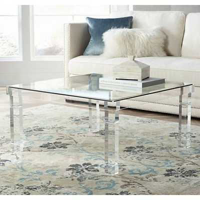 Bristol Square Acrylic Coffee Table clear - Lamps Plus