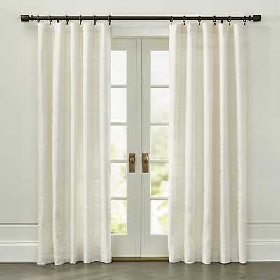 """Silvana Ivory Silk 48""""x96"""" Curtain Panel - Crate and Barrel"""