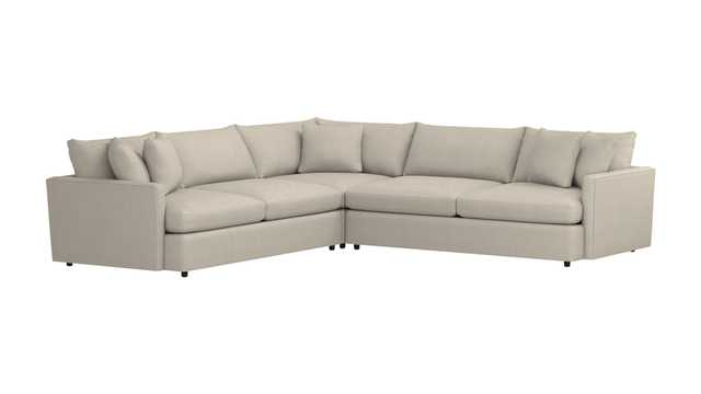 Lounge II 3-Piece Sectional Sofa - Taft, Cement - Crate and Barrel