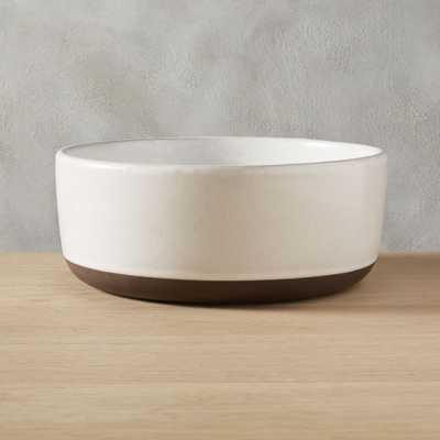 black clay serving bowl - CB2