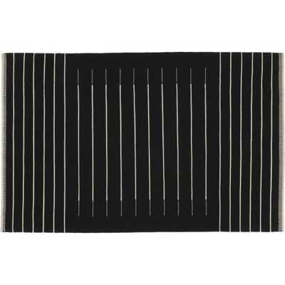 black with white stripe rug - 6'x9' - CB2
