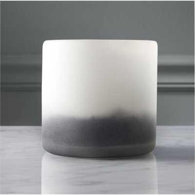 sumi glass tea light candle holder - CB2