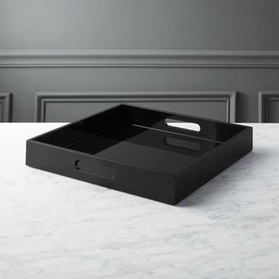 hi-gloss square black tray - CB2