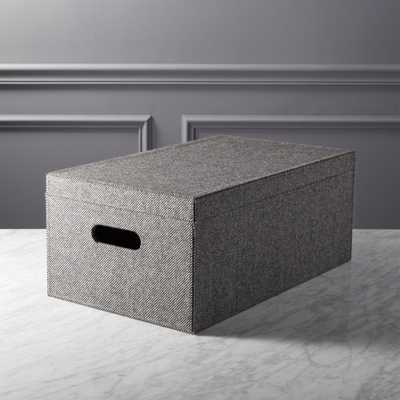tailor storage box with lid - CB2