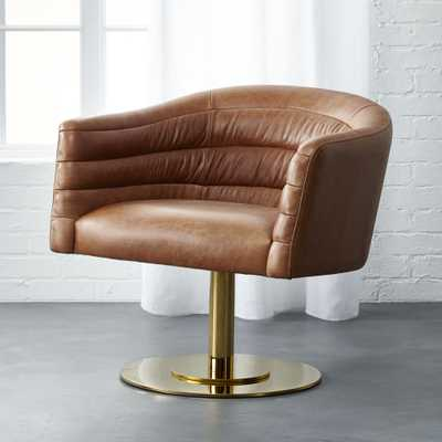 Cupa leather chair - CB2