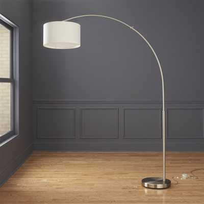 big dipper arc brushed-nickel floor lamp - CB2