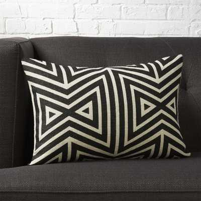 """18""""x12""""apani pillow with feather-down insert"" - CB2"