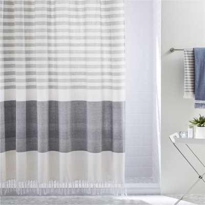 karla cement shower curtain - CB2