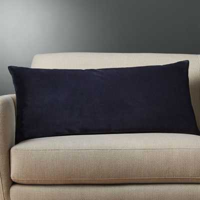 """36""""x16"""" leisure navy pillow with down-alternative insert"" - CB2"