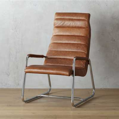 terreno leather chair - CB2