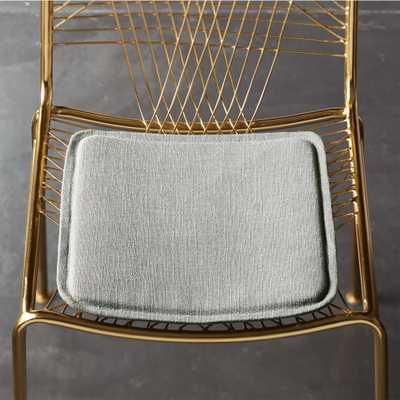 bistro universal zinc chair cushion - CB2