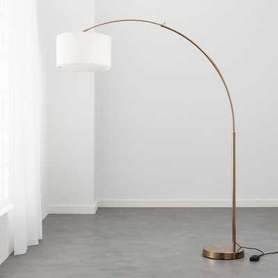 big dipper arc brass floor lamp - CB2