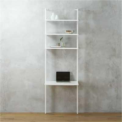 """Stairway white 96"""" desk - CB2"""