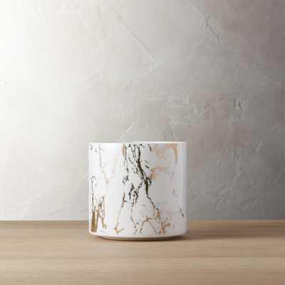 palazzo small marbleized planter - CB2