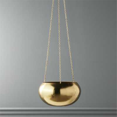 raj gold hanging planter - CB2