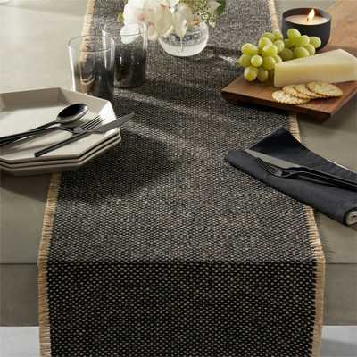 fray cotton and jute table runner - CB2