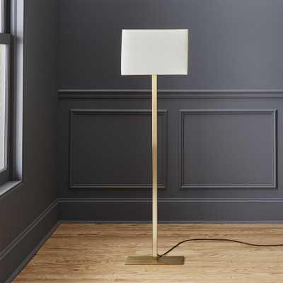 john metallic bronze floor lamp - CB2