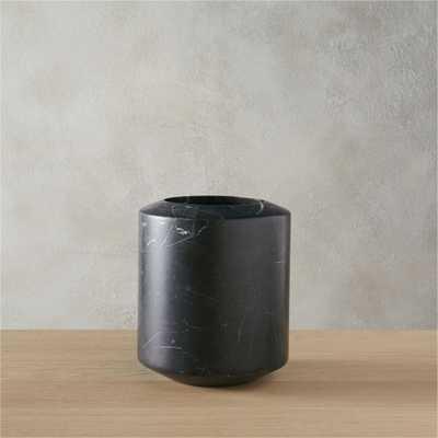 black marble utensil holder - CB2