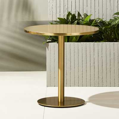 watermark brass bistro table - CB2