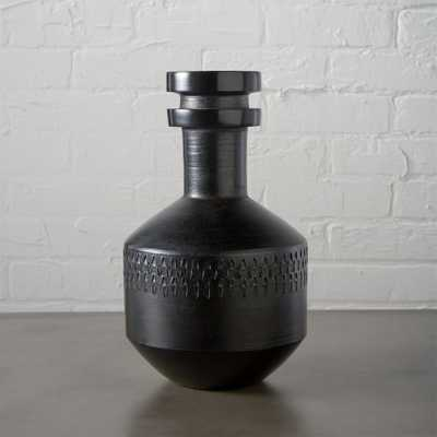 "smoke stack black vase - 11.25""H - CB2"