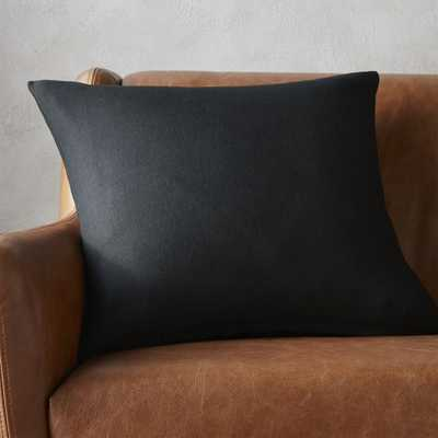 "20"" linon black pillow with down-alternative insert - CB2"