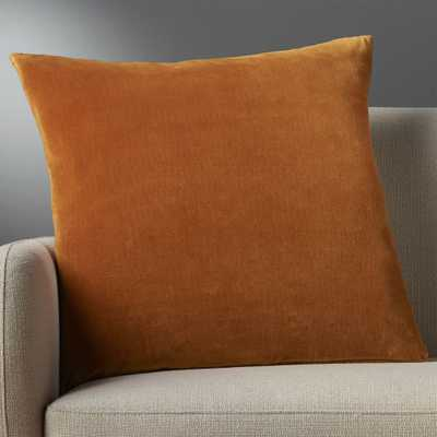 """23"""" leisure copper pillow with feather-down insert"" - CB2"