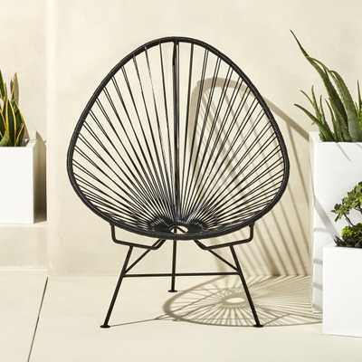 Acapulco black egg outdoor chair - CB2