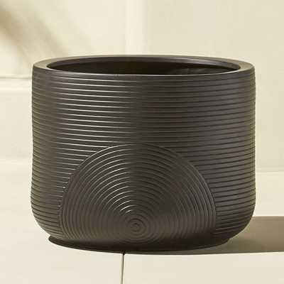 zen small black planter - CB2