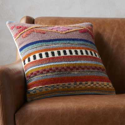 "16"" cusco pillow with feather-down insert - CB2"