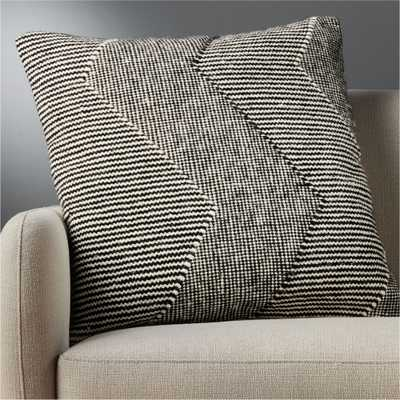 """23"""" bias pillow with feather-down insert"" - CB2"