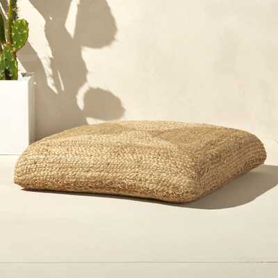 jute floor cushion - CB2