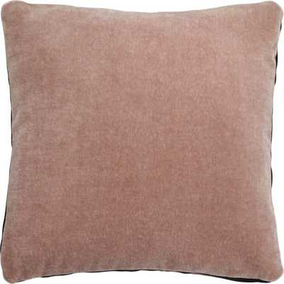 """18"""" mohair pink pillow with down-alternative insert"" - CB2"