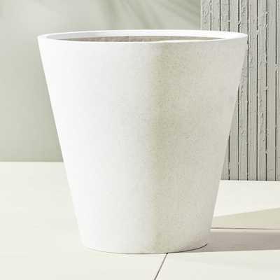 shore polyterrazzo extra large white planter - CB2