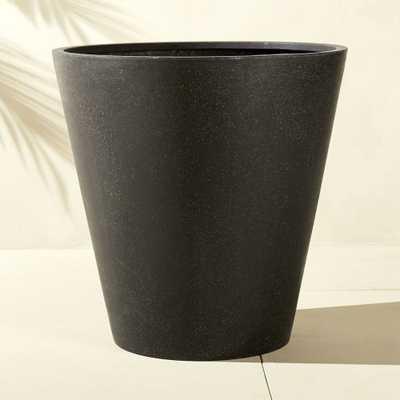 shore polyterrazzo extra large black planter - CB2