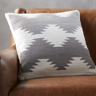 "18"" tecca pillow with feather-down insert - CB2"